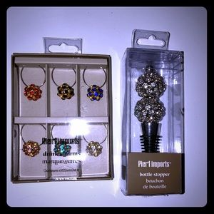 Pier 1 Bottle Stop and Glass Charms